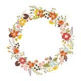 Blom- krans royaltyfri illustrationer