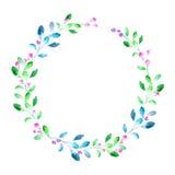 Blom- krans Girland med bäret och örten Arkivbilder