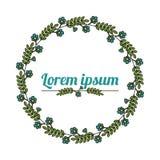 Blom- krans Naturlig blommaram Arkivfoton