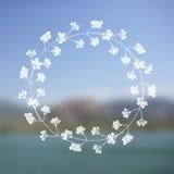 Blom- krans på suddig bakgrund Fotografering för Bildbyråer