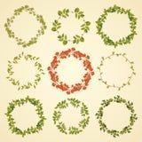 Blom- kranssamling royaltyfri illustrationer
