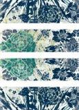 blom- kritadesign Royaltyfria Foton