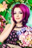 Blom- kvinna Fotografering för Bildbyråer