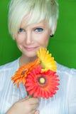 Blom- kvinnlig arkivfoto