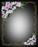 blom- lavendelro för kant vektor illustrationer