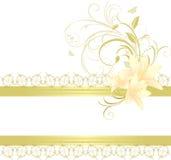 blom- liljaprydnad för kant Royaltyfria Foton