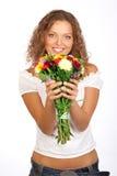 blom- lycka royaltyfria bilder