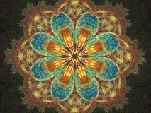 blom- lycklig mandala Arkivfoton