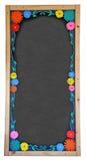 Blom- märka blackboarden Royaltyfri Foto