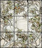 Blom- målat glass Royaltyfri Foto