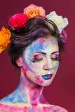 Blom- makeup Arkivbilder