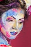 Blom- makeup Arkivfoton