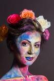 Blom- makeup Arkivbild