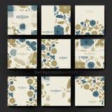 Blom- mall för bakgrundsvektorbroschyr EPS 10 royaltyfri illustrationer