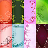 blom- mallar för kortdesign Fotografering för Bildbyråer