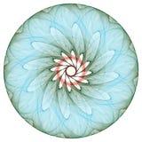 blom- mandala royaltyfri illustrationer