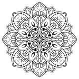 Blom- mandala för vektor Arkivbilder
