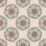 Blom- mandalamodell för sömlös färg Royaltyfri Foto