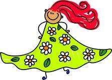 blom- mitt för klänning Fotografering för Bildbyråer