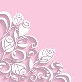 Blom- modell för abstrakt ros 3D vektor illustrationer