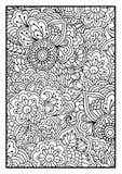 Blom- modell för färgläggningbok Royaltyfri Illustrationer