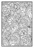 Blom- modell för färgläggningbok Stock Illustrationer