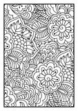 Blom- modell för färgläggningbok Arkivbilder