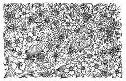 Blom- modell för färgläggningbok Arkivfoton