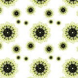 Blom- modell för härlig sömlös textur med krullning Fotografering för Bildbyråer