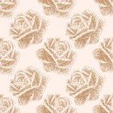 Blom- modell för pointillism Arkivbild