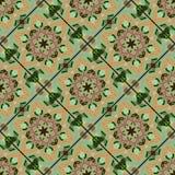 Blom- modell för sömlös tegelplatta Royaltyfria Foton