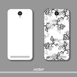 Blom- modell för telefon vektor illustrationer