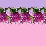 Blom- modell för vattenfärg av rosa magnoliablommor royaltyfri illustrationer