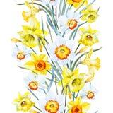 Blom- modell för vattenfärgvår Royaltyfri Bild