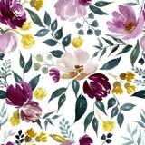 Blom- modell f?r vattenf?rg royaltyfri illustrationer