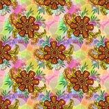 Blom- modell för sömlös tegelplatta Royaltyfri Foto