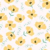 Blom- modell i den lilla blomman seamless texturvektor royaltyfri illustrationer