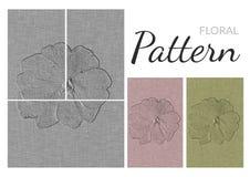 Blom- modell - Impatiens blomma vektor illustrationer