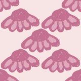 Blom- modell med den stora blommaknoppar och echinaceaen Enkel sömlös modell för tryck på tyg, textiler, yttersidor Royaltyfri Bild