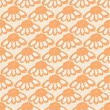 Blom- modell med den stora blommaknoppar och echinaceaen Enkel sömlös modell för tryck på tyg, textiler, yttersidor Fotografering för Bildbyråer