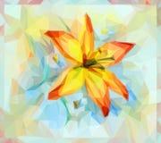 Blom- modell med Lily Flower Fotografering för Bildbyråer