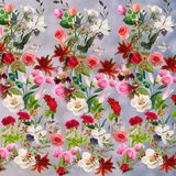 Blom- modell på en suddig bakgrund Arkivbilder
