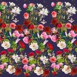 Blom- modell på en suddig bakgrund Fotografering för Bildbyråer