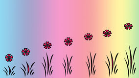 Blom- modellabstrakt begreppbakgrund Fotografering för Bildbyråer