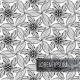 Blom- modellbakgrundsvektor För inbjudankort garnering och att slå in, textiler, papper vektor illustrationer