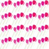 Blom- modeller, rosa tulpanblommor Vektor Illustrationer