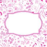Blom- modellrosa färgbakgrund royaltyfri illustrationer