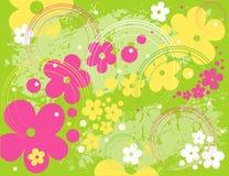 blom- modellvektor Royaltyfria Bilder