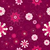 blom- modern retro seamless tappning för bakgrund Royaltyfria Bilder