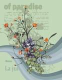 blom- modernt för bakgrund royaltyfri illustrationer